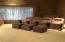 Media Room with theater seating and sound dampening walls