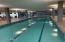Giant lap pool inside along with TWO hot tubs. Healthclub included in rent!