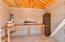 Storage shed/work shop interior