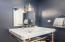 Custom Designed Powder Room With DXV Sink & DXV Console Brass Fitting Sink