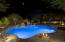 Salt Water Pool With LED Lighting & Travertine Pavers