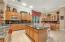 Kitchen with Island, Mable Cabinets, Gas Cooktop, Stainless Appliances & Double Ovens
