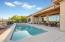 Pebble-Tech Pool and Spa, Covered Patio with Electric Awning