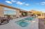 Pebble-Tech Pool and Spa with Elevated Sitting Area
