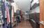 Separate master closets