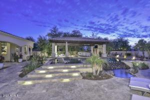 Backyard resort with Pool, Ramada, Fireplace, & More
