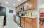 Granite counters, nice cabinets