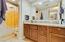 Large granite vanity, tub too!