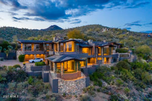 Incredible Elevated Location setting on 11.92 acres of High Desert overlooking Desert Mountain Golf Course!