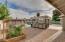 Large backyard with garden area.