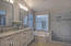 Large Master with Dual Sinks and Separate Shower & Tub.