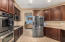 Double ovens and smart GE microwave.