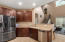 Delta touch & voice IQ smart kitchen faucet.