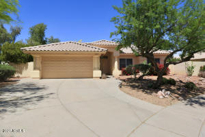 Don't miss this amazing 3 bed / 2 bath home in Gilbert! This wonderful home is nestled at the end of a cul-de-sac on a spacious corner lot that backs up to a greenbelt and walking paths. The home features an open and spacious living and dining area with high ceilings and easy kitchen access, making it perfect for entertaining! The master bedroom comes complete with a dual sink vanity, separate shower and tub, and a large walk-in closet. Enjoy the large covered patio in the backyard along with a beautiful fenced-off pool! Located just down the road from restaurants and shopping in downtown Gilbert. You won't want to miss this