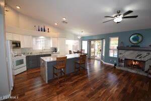 Rich looking kitchen.