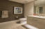 Floating vanity w/ LED under cabinet lighting