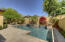 Private Pool with Water Feature and Fire Woks