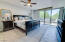 Large master suite with patio access