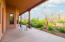 Large back patio with mountain views