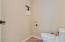 Private Toilet Room w/shelves behind door