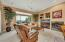 Family Room with Views, Gas Fireplace and Media Niche