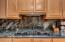 Kitchen with Gas Cooktop, Granite Counter and Backsplash