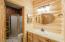 shower and cedar lined closet