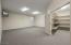 Basement Game/Media Room with Huge Storage capacity