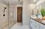Luxurious spa shower
