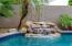 pool has a waterfall