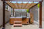new pergola that allows you to let the sun in or block it