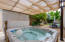 enjoy a dip in your private jacuzzi