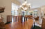Generous formal dining area just off the kitchen and great room.
