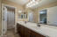 Double sinks, medicine cabinets with private full bath
