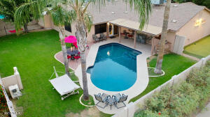 Great outdoor living space with Newly Resurfaced Pool.