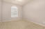 5th Bedroom downstairs with walk in closet