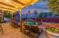 Shade Pergola with Party Lights