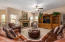 The spacious family room is open to the kitchen.