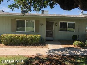 This home has close to 900 sqft & located in an adult community.