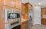 Gorgeous stainless appliances and generous walk in pantry