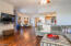 Wood floors and open space