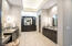 Beautiful master bathroom with his and hers sinks and built-in bonus vanity.