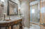 This shared guest bath is between the 2nd and 3rd bedrooms