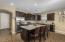 You have beautiful dark cabinets and granite counters.