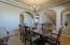 Dining room off foyer