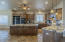 Kitchen with breakfast bar and island