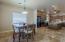 Oversized kitchen dining area