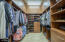 Master closet with built-ins and extra overhead storage