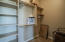 All closets have built-in shelving