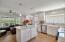 Island w/ sit down breakfast area in kitchen